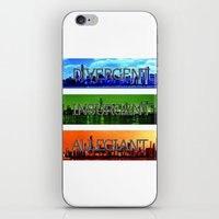 divergent iPhone & iPod Skins featuring Divergent by All Things M