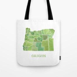 Oregon Counties watercolor map Tote Bag