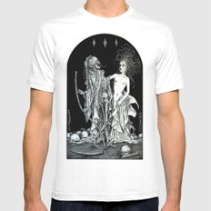 Death and the Maiden I White MEDIUM Mens Fitted Tee