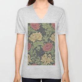 William Morris Chrysanthemum Unisex V-Neck