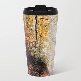 Path through the Autumn Forest Travel Mug