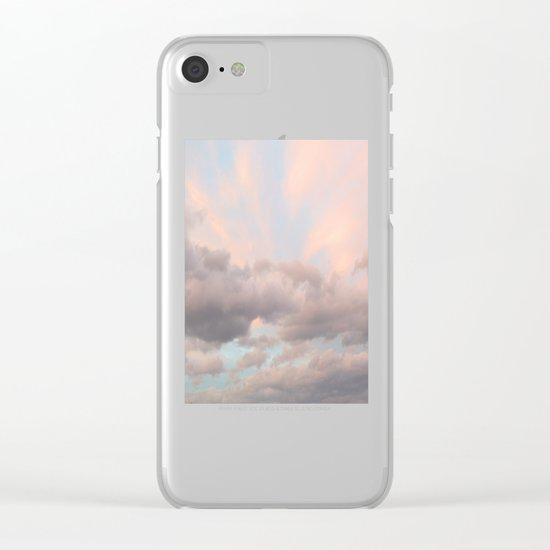 Milkshake Sky Clear iPhone Case