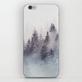 Winter Wonderland - Stormy weather iPhone Skin