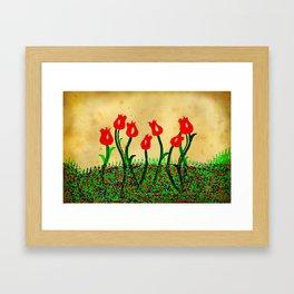 FLOWERS 015 Framed Art Print