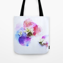 Hellebores on water colors Tote Bag