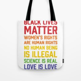 black lives matter-women is rights are human rights Tote Bag