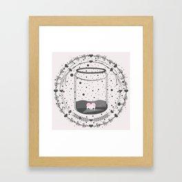 Whimsical love Framed Art Print