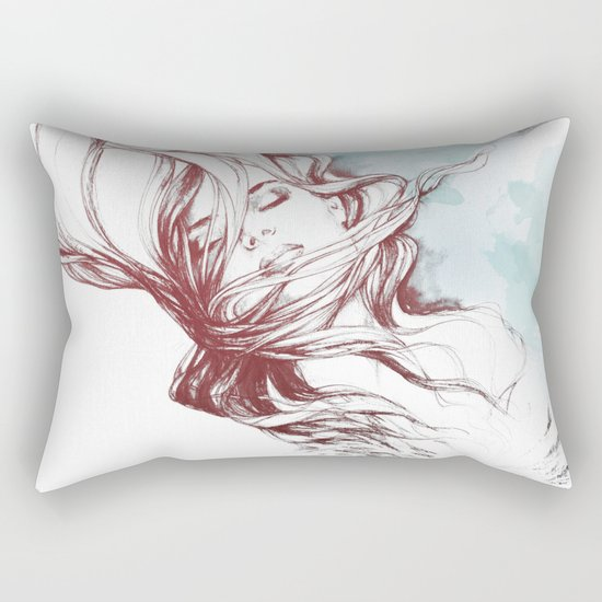 Dreaming about wolves Rectangular Pillow