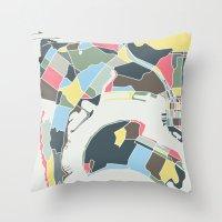 san diego Throw Pillows featuring San Diego by Studio Tesouro