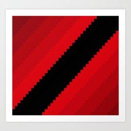 Pixel Bloody Dreams - Red Art Print