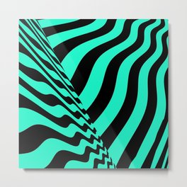 sudden change. minty Metal Print
