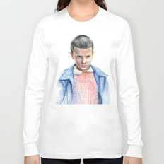 Eleven Stranger Things Watercolor Portrait Long Sleeve T-shirt