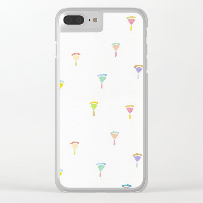 drawing flowers Clear iPhone Case