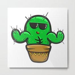 Cool Cactus Metal Print