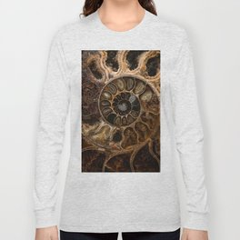 Earth treasures - Fossil in brown tones Long Sleeve T-shirt