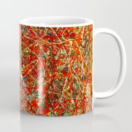 Jackson Pollock digitally reworked Coffee Mug