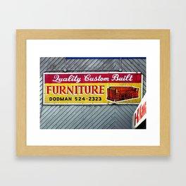 Furniture Store Sign Framed Art Print