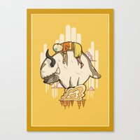 appa Canvas Prints featuring Aang and Appa by ArtPhish