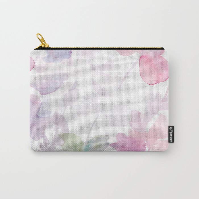 Blooming blush and purple watrclolor Carry-All Pouch