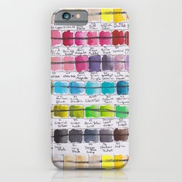 Artist Colour Palette Swatch Test iPhone Case
