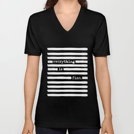 REDACTED! Everything is fine. REDACTED! Unisex V-Neck