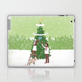 Decorating a tree Laptop & iPad Skin