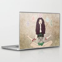 zen Laptop & iPad Skins featuring Zen by minniemorrisart