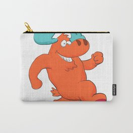 moose running and smiling. Carry-All Pouch