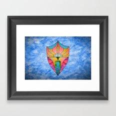 Lotus Shield Framed Art Print