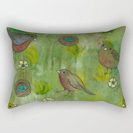 Heralds of Spring Rectangular Pillow