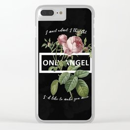Harry Styles Only Angel graphic artwork Clear iPhone Case