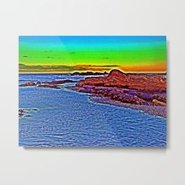 Saturated Surf  Metal Print