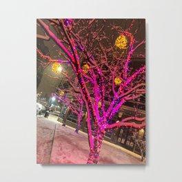 Longfellow Square Christmas Lights (1) Metal Print
