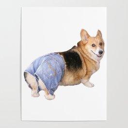 Corgi, Apple Bottom Jeans Poster