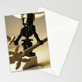Black Skeleton Custom LEGO Minifigure with Viking Helmet by Chillee Wilson  Stationery Cards
