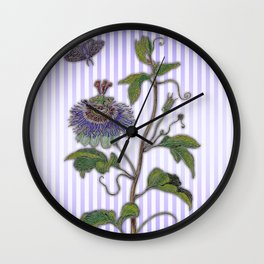 Merian: Passiflora Wall Clock