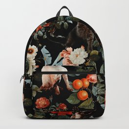 Cat and Floral Pattern II Backpack