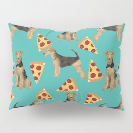 Airedale Terrier pizza pattern dog breed cute custom dog pattern gifts for dog lovers Pillow Sham
