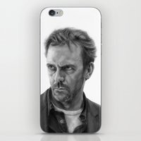 house md iPhone & iPod Skins featuring House by robo3687