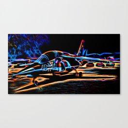 Neon Jet Canvas Print