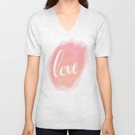 Pretty Love Print With Arrows Unisex V-Neck