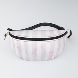 Hand painted baby pink white watercolor stripes Fanny Pack