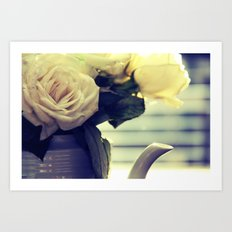 White Rose Tea  Art Print