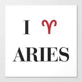 I heart Aries Canvas Print