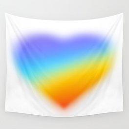 rainbow heart Wall Tapestry