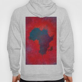 Africa map 3D red blue #africa #map Hoody