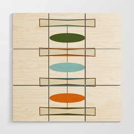 Mid-Century Modern Art 1.2 Wood Wall Art