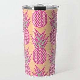 Geometric Pineapple Pattern Travel Mug