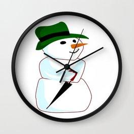 The Happy Snowman Wall Clock
