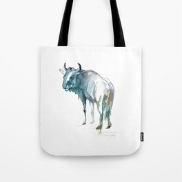 Wildebeest / Abstract animal portrait. Tote Bag
